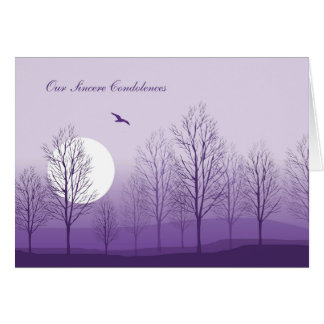 Purple Mountain Sunset, Condolences from Group Greeting Card