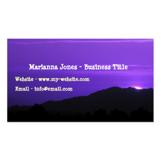 Purple Mountain Sunset Skinny Card Pack Of Standard Business Cards