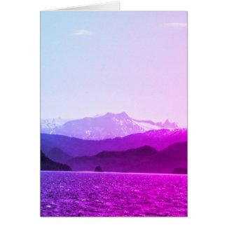 Purple Mountains Birthday Card
