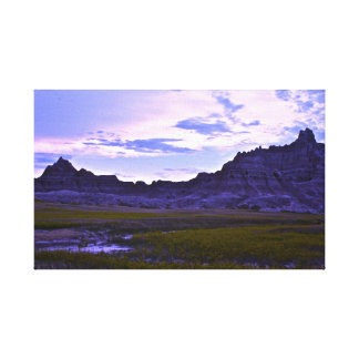 Purple Mountains Gallery Wrapped Canvas