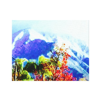 Purple Mountains Majesty Stretched Canvas Print