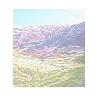 Purple Mountains Memo Notepad