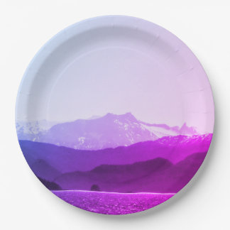 Purple Mountains Paper Plate 9 Inch Paper Plate