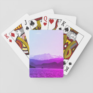 Purple Mountains Playing Cards
