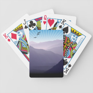 Purple Mountains Poker Cards