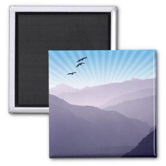 Purple Mountains Square Magnet