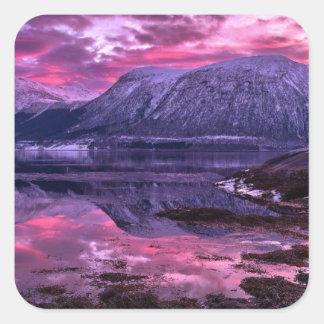 Purple Mountains Square Sticker