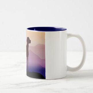 Purple Mountains Vizsla Mugs