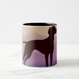 Purple Mountains Vizsla Coffee Mugs
