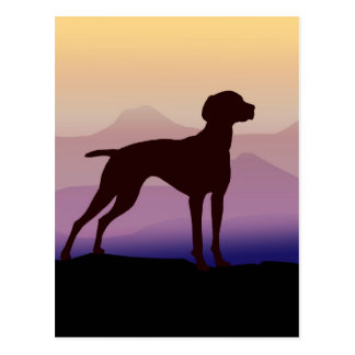 Purple Mountains Vizsla Postcard