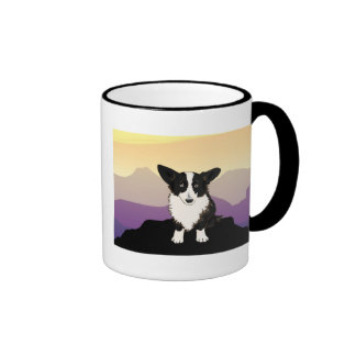 Purple Mountains Welsh Corgi Mug