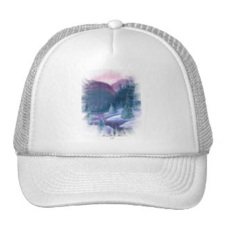 Purple Mountains with Snow Hat