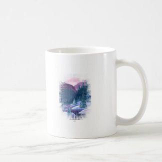 Purple Mountains with Snow Coffee Mugs
