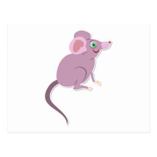 Purple mouse cartoon postcards
