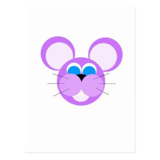 purple mouse post card