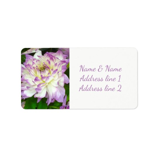 Purple mum address labels