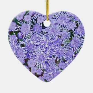 Purple Mums Christmas Ornament