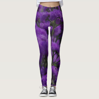 Purple mums leggings