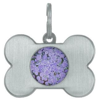 Purple Mums Pet Name Tag