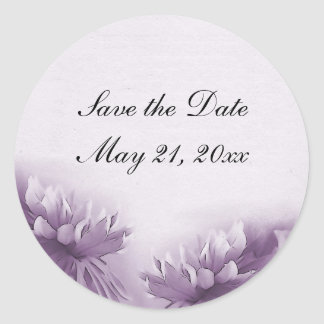 Purple Mums Stickers - Save the Date