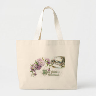 Purple Mums Vintage New Year with Vignette Bags