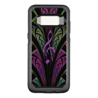 Purple Music Clef On Green Purple Fractal Galaxy OtterBox Commuter Samsung Galaxy S8 Case