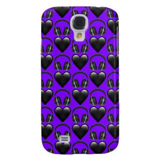 Purple Music Emoji Samsung Galaxy S4 Phone Case