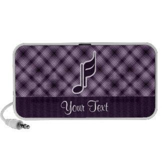 Purple Music Note Mini Speaker