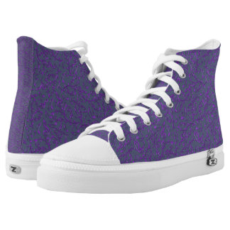 Purple Music Notes Custom Color High Top Shoes Printed Shoes