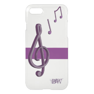 Purple Music Notes Personalized iPhone 8/7 Case