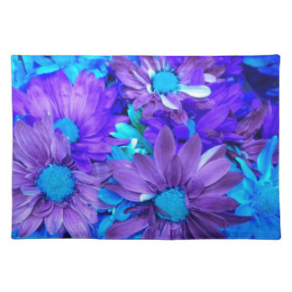 Purple N Turquoise Daisy Bouquet Placemat