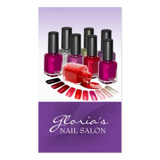 Create your own manicurist business cards page3 purple nail technician business cards reheart Gallery
