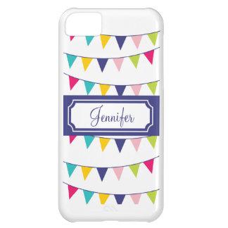 Purple Name Carnival Flags Cute iPhone Case