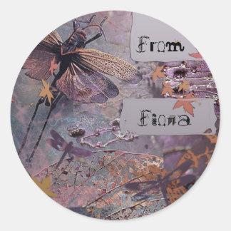 Purple Nature Fantasy Classic Round Sticker