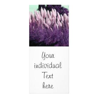 purple nature rack card design