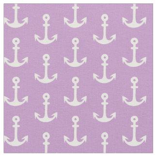 Purple Nautical Fabric, Anchor Fabric