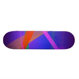 Purple Navy Crossing Colorful Lights Skate Board