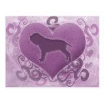 Purple Neapolitan Mastiff Valentine
