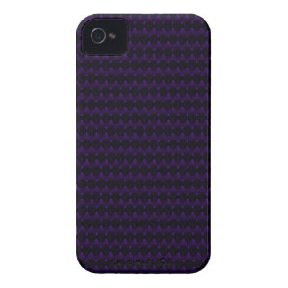 Purple Neon Alien Head Pattern iPhone 4 Case-Mate Case