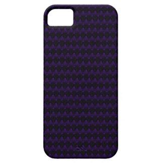 Purple Neon Alien Head Pattern iPhone 5 Case