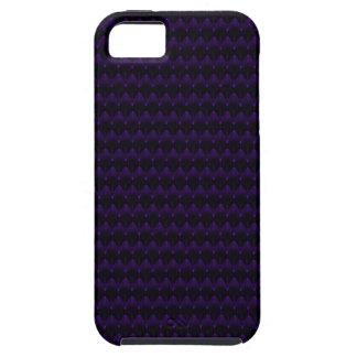 Purple Neon Alien Head Pattern Case For The iPhone 5