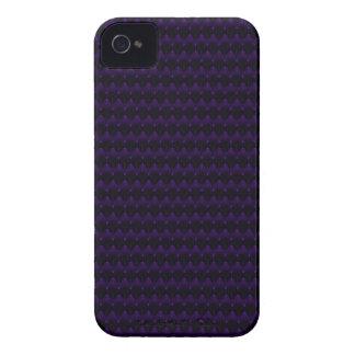 Purple Neon Alien Head Pattern iPhone 4 Covers