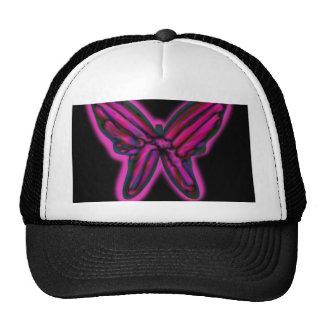 Purple neon butterfly cap