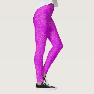 Purple neon leggings