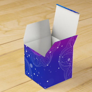 Purple neon mandala pattern party favour boxes