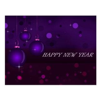 Purple New Year's Day Postcard