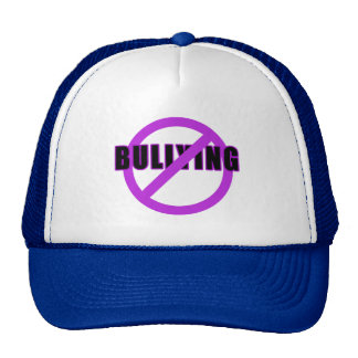 Purple NO BULLYING T-shirts and Buttons Mesh Hats
