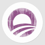 Purple O Faded.png Stickers