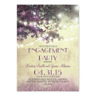 Purple oak tree lights love birds engagement party card