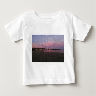Purple ocean sunset in Costa del sol Spain mosaic. Baby T-Shirt